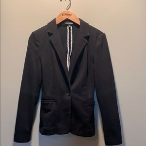 💗Express Black Blazer with white accents
